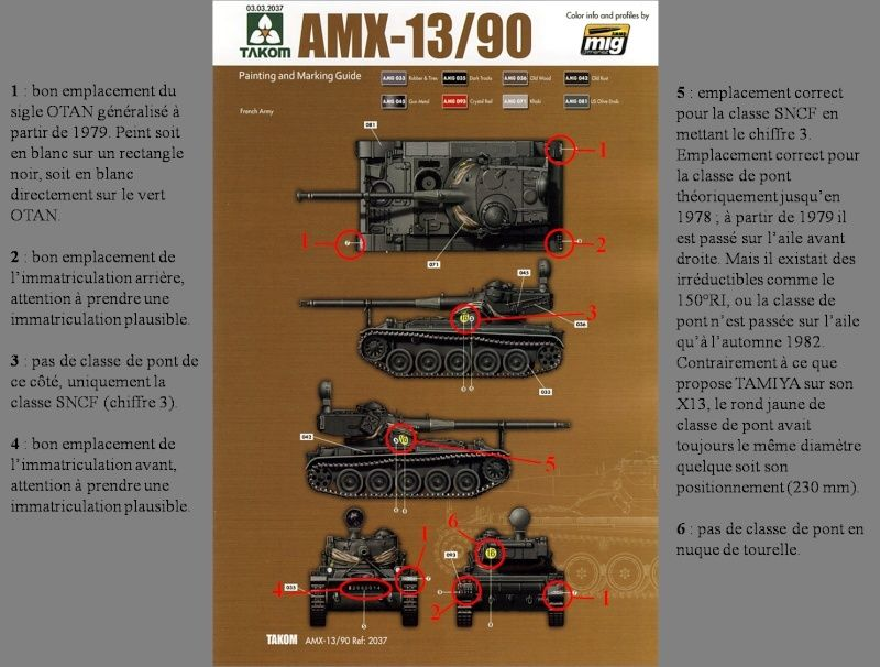 chenilles - AMX 13 Canon de 90 : autopsie de la maquette TAKOM 000_cr10