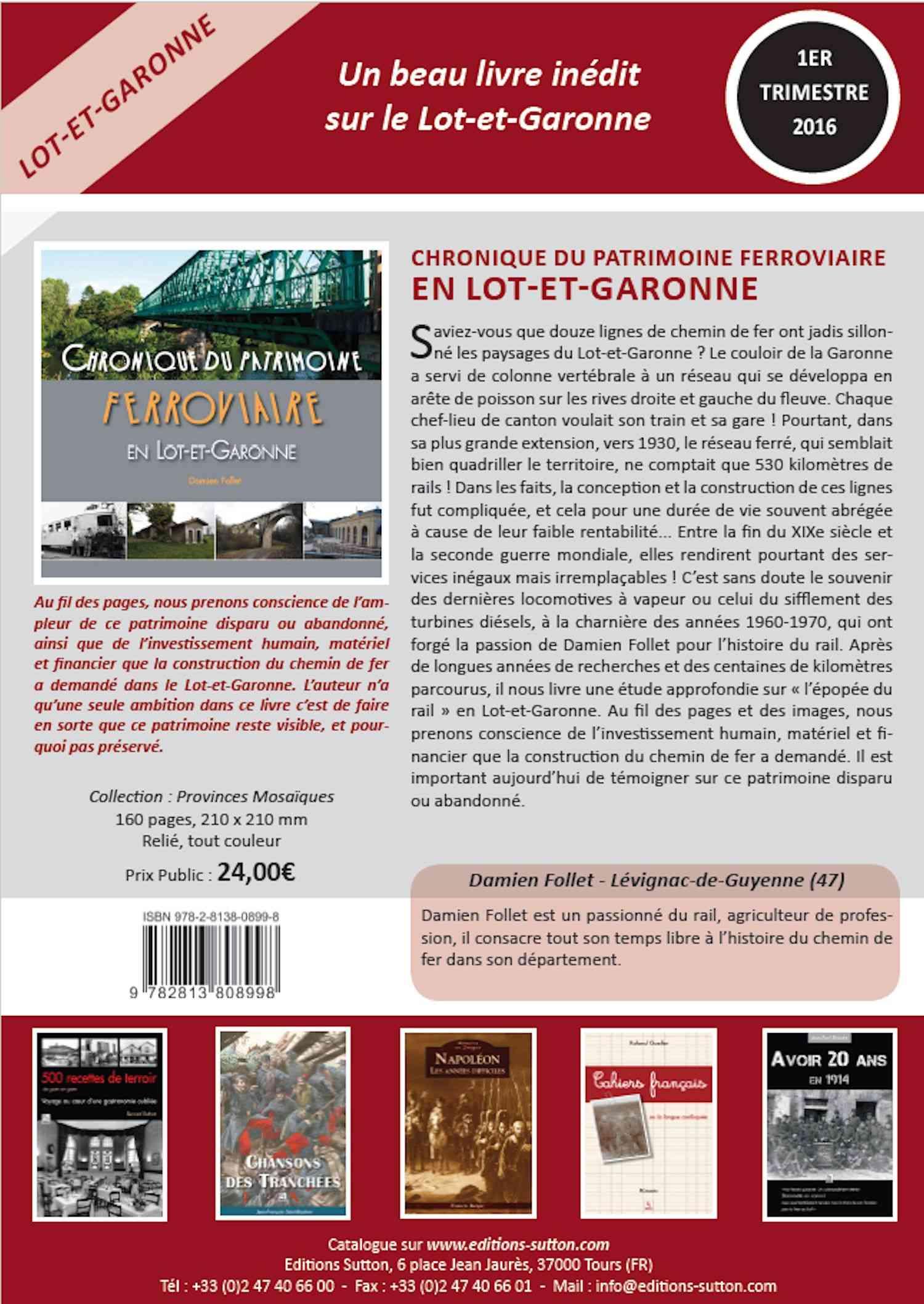 Un livre ferroviaire du coin (Lot et Garonne) va bientot sortir. Image214