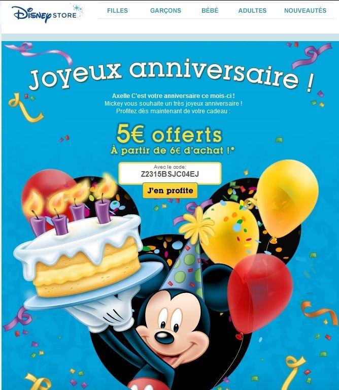 Les promotions et codes de réduction sur Disney Store FR - Page 12 Disney10