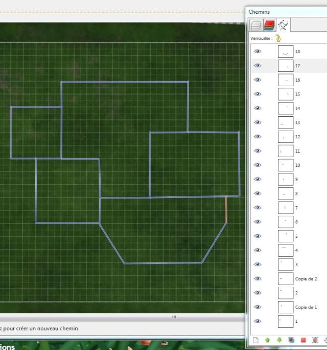 [Apprenti]Tracer le plan de sa maison en utilisant la grille du jeu Cap3110