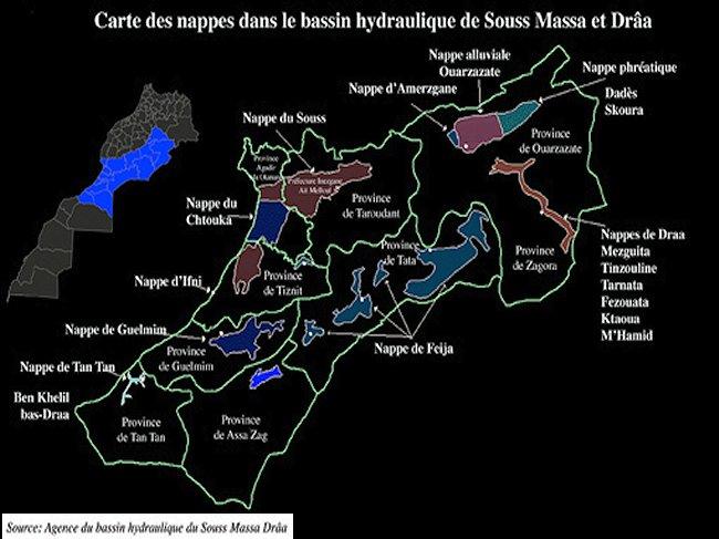 La problématique de l'eau dans le Souss Massa Carte_10