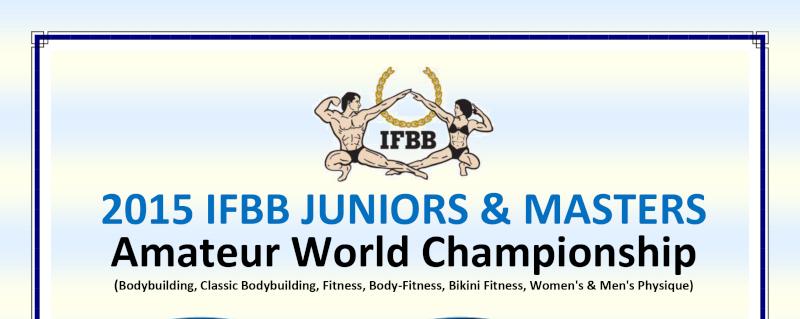 Amateur World's championship IFBB Junior & Masters 110