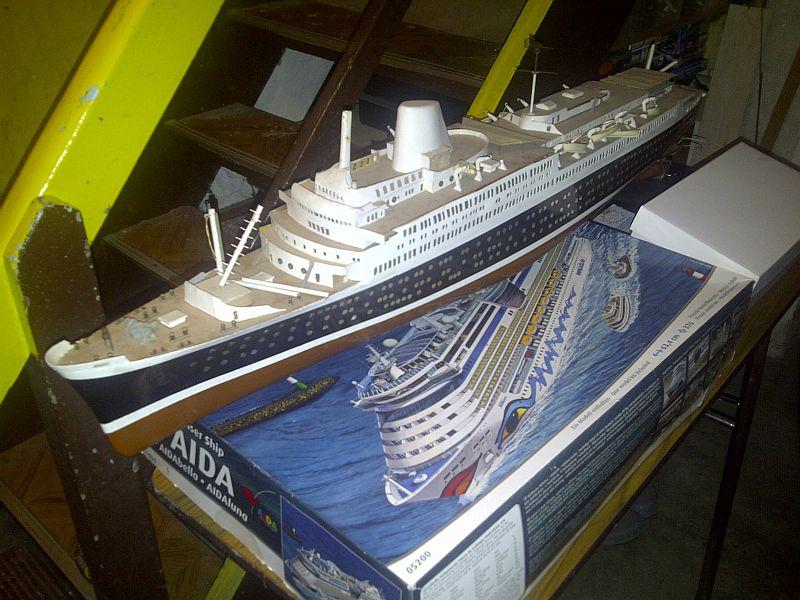 TS Bremen V - Restaurationsbericht zu einem alten Modellschiff in 1/200 429