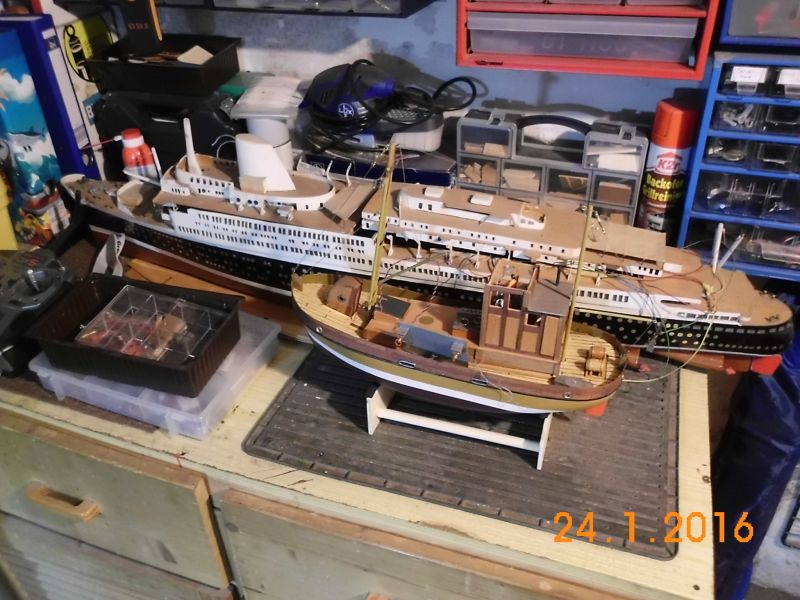 TS Bremen V - Restaurationsbericht zu einem alten Modellschiff in 1/200 812