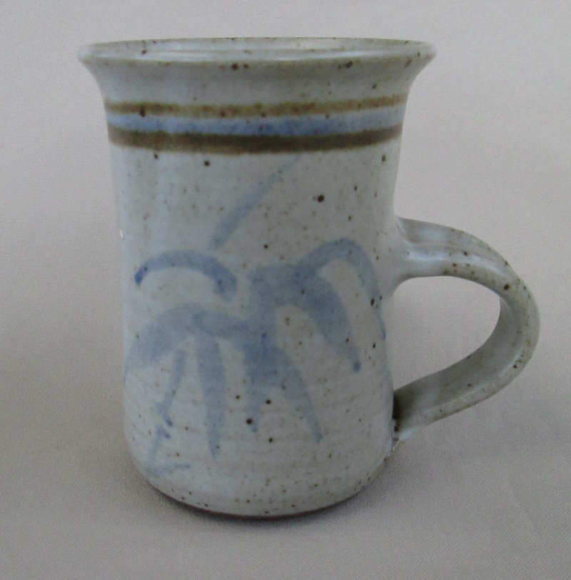 Grey Mug with Blue Bamboo Img_3933