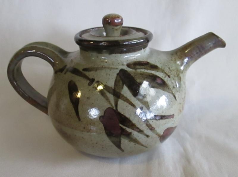 Grey Mug with Blue Bamboo Img_4212