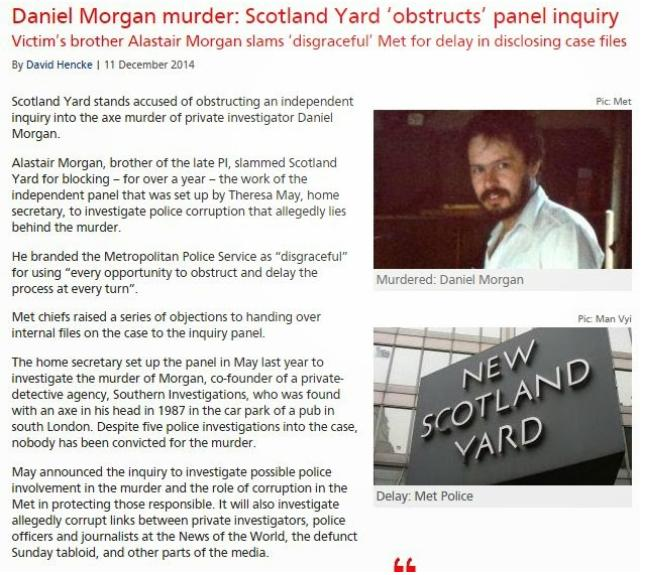 Daniel Morgan murder: Appeal for new information Morgan10