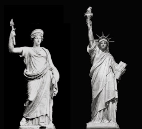 statue de la liberté, déesse dans le port de New York Roman-10