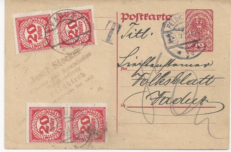 Inflation in Österreich - Belege - 1918 bis 1925 - Seite 6 Bild11