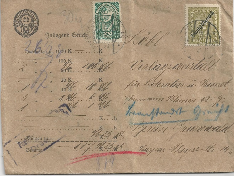 Devisenkontrolle im Deutschen Reich nach Ende des 1. Weltkrieges Bild76
