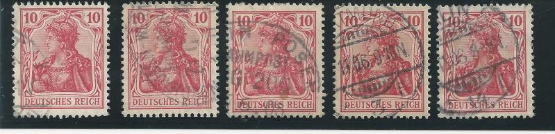 Briefmarke 10 Pfennig Germania mit Besonderheit Bild82