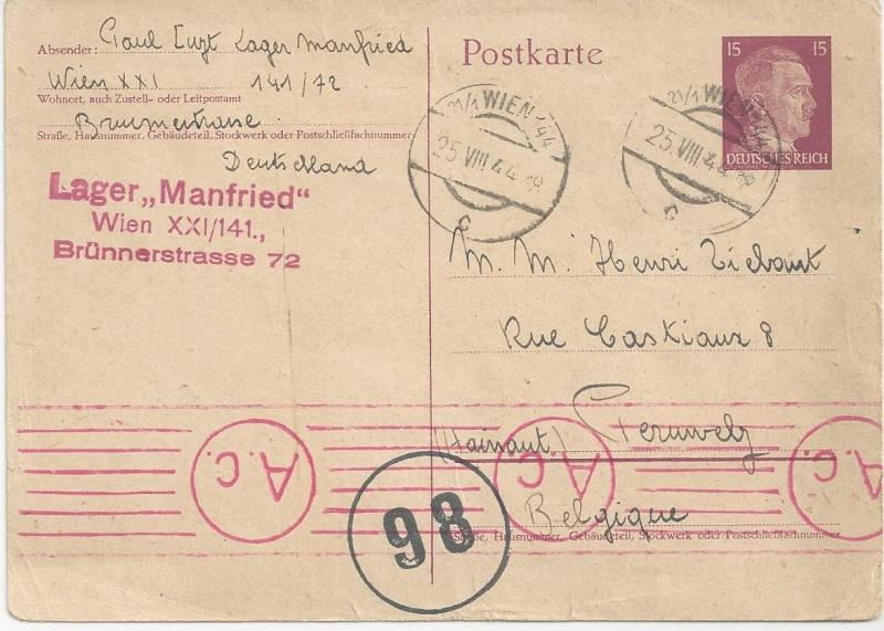 Österreich im III. Reich (Ostmark) Belege - Seite 6 Bild_211
