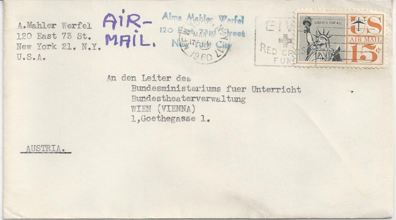 Briefe oder Karten von/an berühmte oder bekannte Personen Bild_220