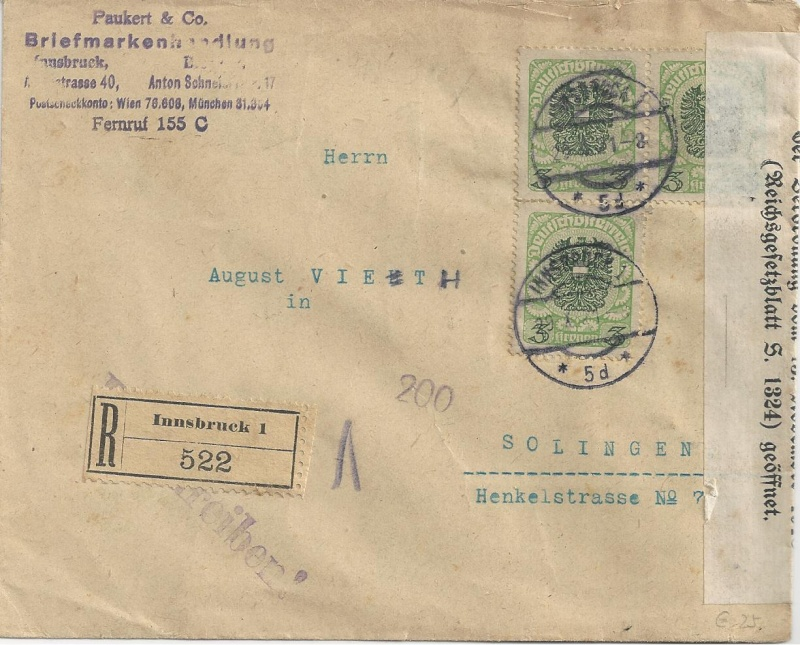 Inflation in Österreich - Belege - 1918 bis 1925 - Seite 7 Bild_267