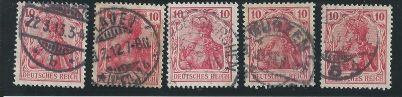 Briefmarke 10 Pfennig Germania mit Besonderheit Bild_269