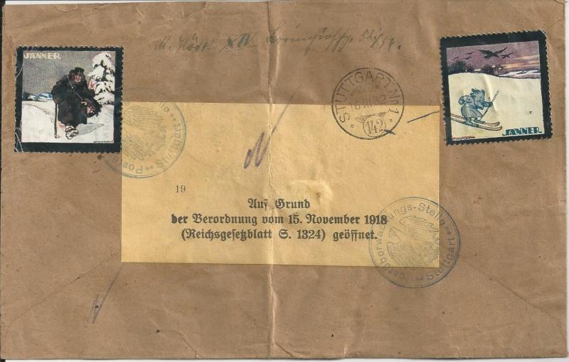 Devisenkontrolle im Deutschen Reich nach Ende des 1. Weltkrieges Bild_281