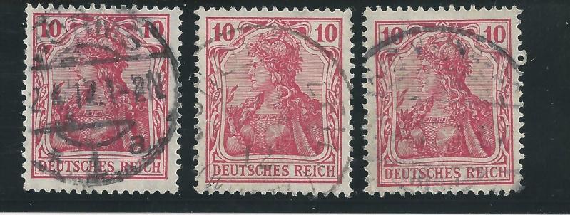 Briefmarke 10 Pfennig Germania mit Besonderheit Bild_341