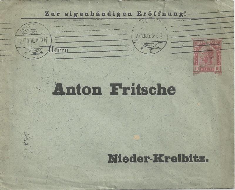 Private Briefumschläge Monarchie Bild_412