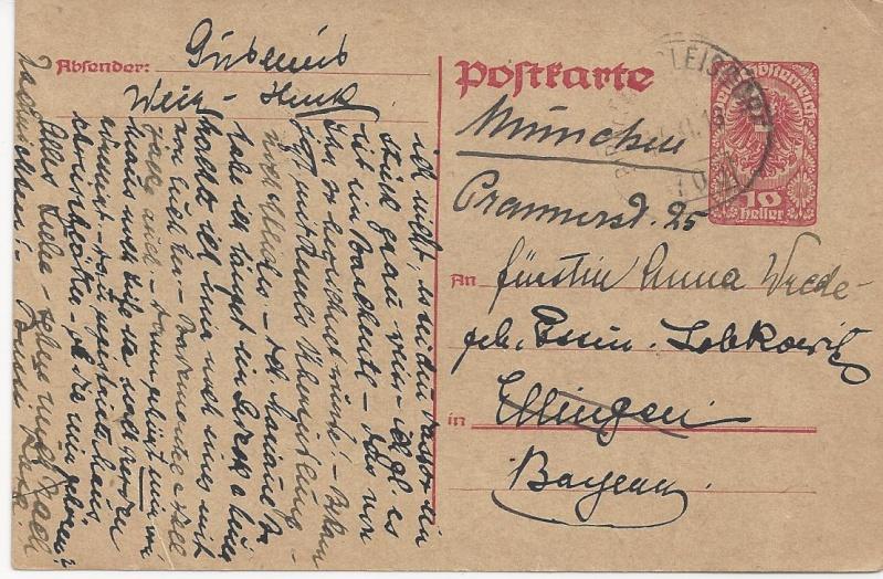 Briefe oder Karten von/an berühmte oder bekannte Personen Bild_428