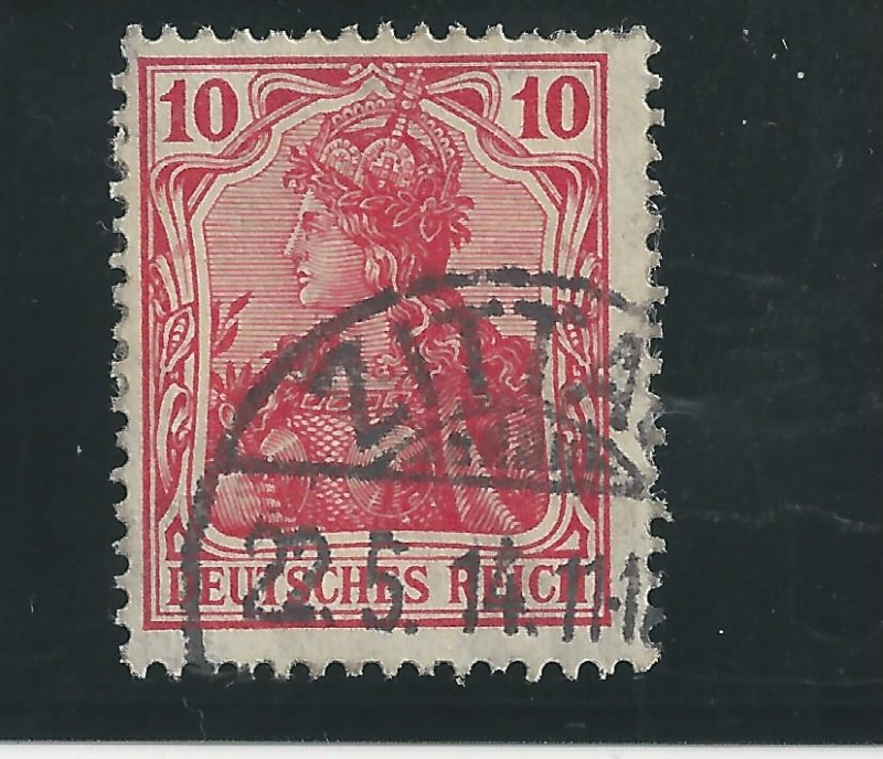 Briefmarke 10 Pfennig Germania mit Besonderheit Bild_433