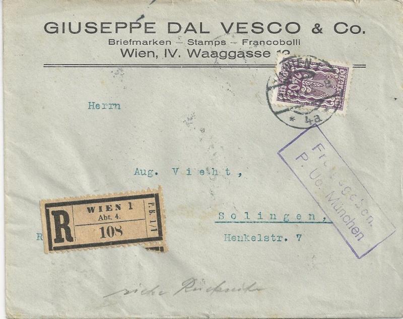 nach - Devisenkontrolle im Deutschen Reich nach Ende des 1. Weltkrieges Bild_522
