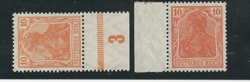 Briefmarke 10 Pfennig Germania mit Besonderheit Bild_524