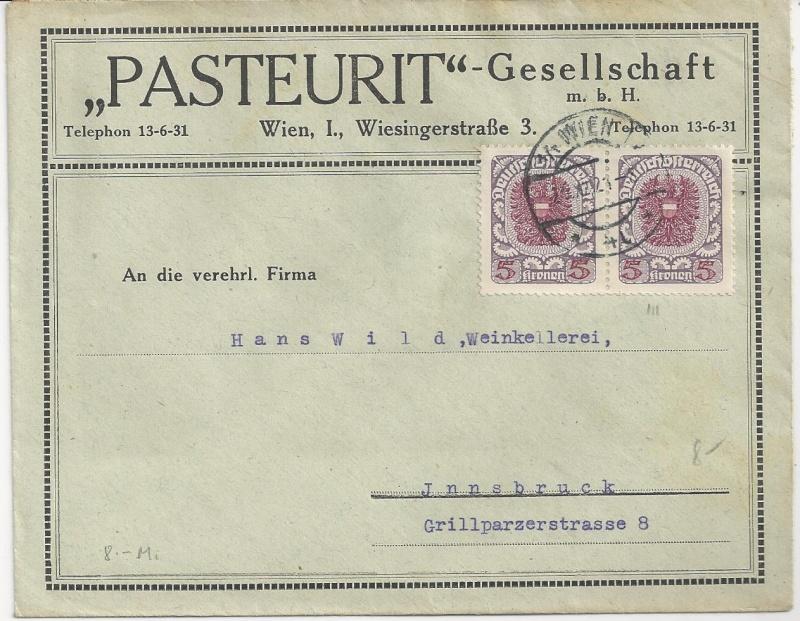 Inflation in Österreich - Belege - 1918 bis 1925 - Seite 7 Bild_618