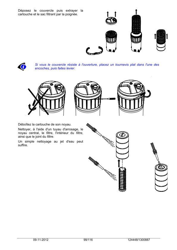Noyau central du compartiment cartouche décollé Notice11