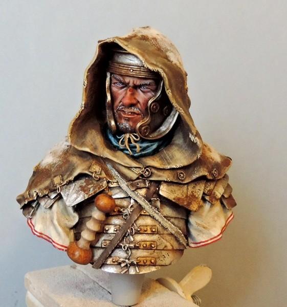 """Buste de légionnaire Romain """"Aquila""""... FINI ... Fscn2112"""