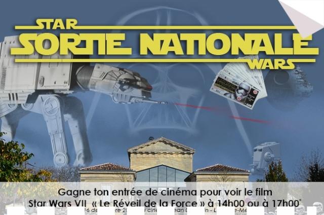 Gagne ton entrée de cinéma Star Wars VII au Cinéma Jean Dujardin à Lesparre 2015_110