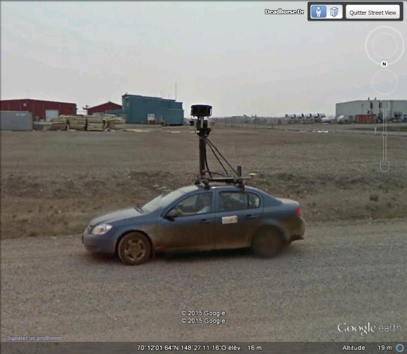 STREET view : Deux Google car qui se suivent, Territoires du Nord Ouest, CANADA G13