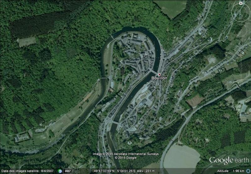 Les villes installées à l'abri d'un méandre M113