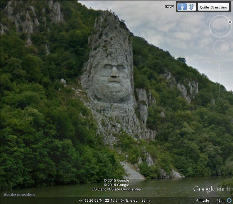 La sculpture géante du roi Decebal - Orsova - Roumanie. V110