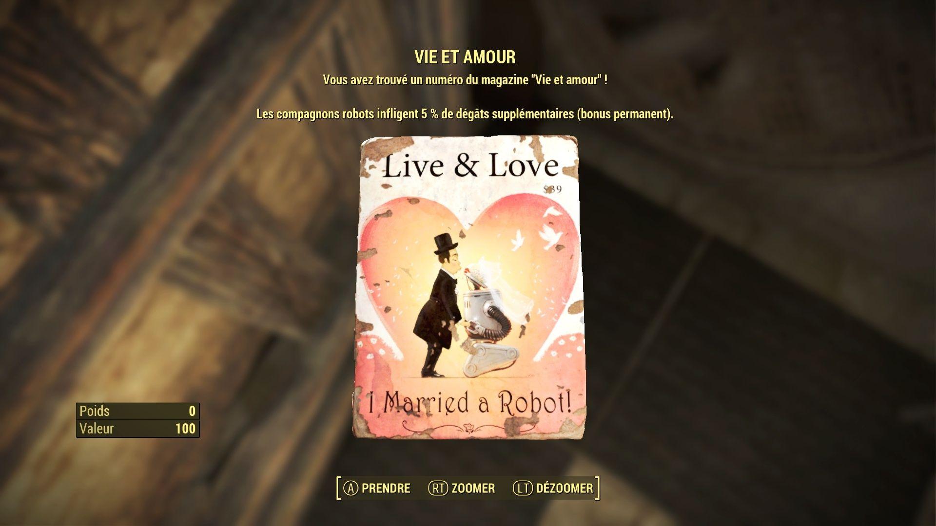 """Fallout 4 : Les magazines """"VIE ET AMOUR"""" : Fallou32"""