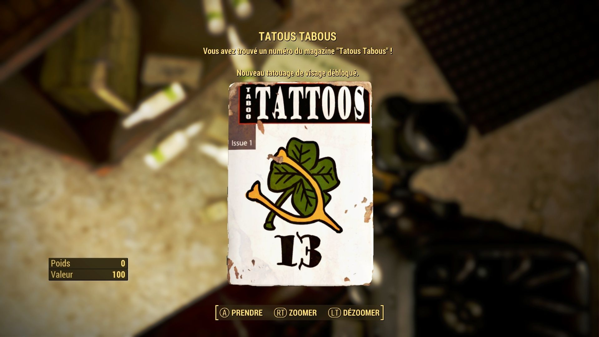 """FallOut 4 : Les magazines """"TATTOOS TABOUS"""" . Fallou61"""