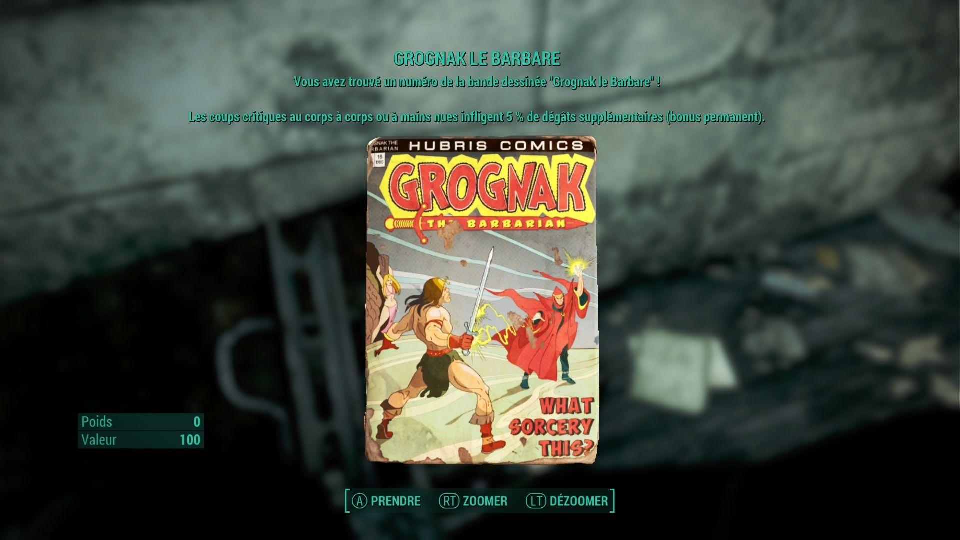 "Fallout 4 : Les magazines ""GROGNAK LE BARBARE"" Fallou65"