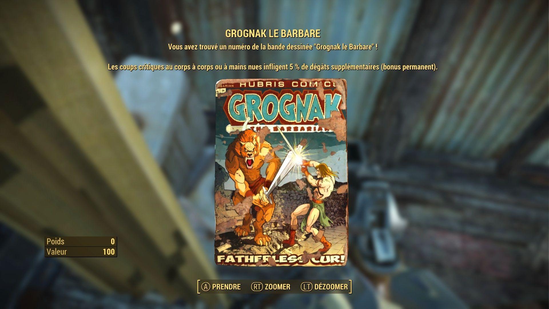 "Fallout 4 : Les magazines ""GROGNAK LE BARBARE"" Fallou77"