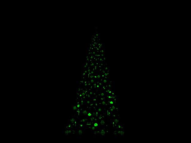[SIMULATION] Illumination réaliste du Sapin de Noël de Disneyland Paris 00610