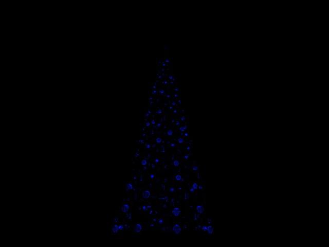 [SIMULATION] Illumination réaliste du Sapin de Noël de Disneyland Paris Bleu10