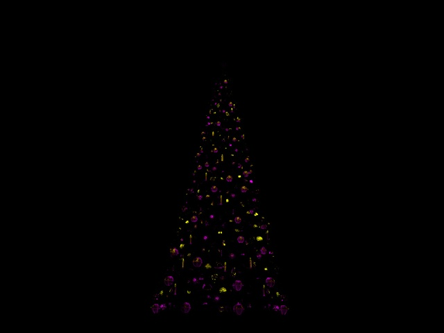 [SIMULATION] Illumination réaliste du Sapin de Noël de Disneyland Paris Jaune_10