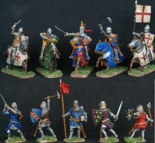 Chevaliers anglais guerre de cent ans Cheval10