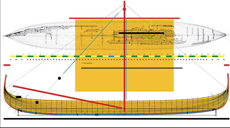 Wikinger-Boot Skuldelev 2 (1:20)  Rumpf_10