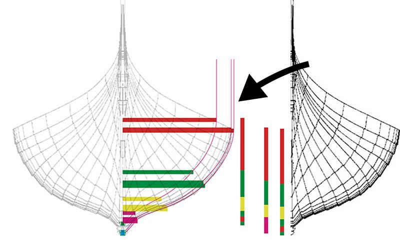 Wikinger-Boot Skuldelev 2 (1:20)  Zeichn11