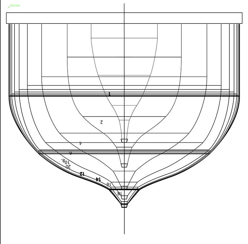 Wikinger-Boot Skuldelev 2 (1:20)  Zeichn14