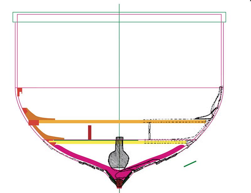 Wikinger-Boot Skuldelev 2 (1:20)  Zeichn15