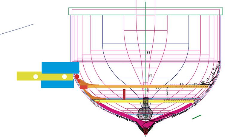 Wikinger-Boot Skuldelev 2 (1:20)  Zeichn16