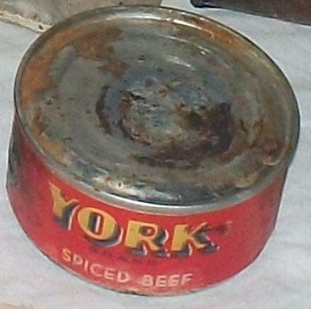 "For a Canadian ration, cans ""YORK Spiced Beef"" and ""BUTTER FOR BREAKFAST DINNER AND SUPPER"" 101_9510"