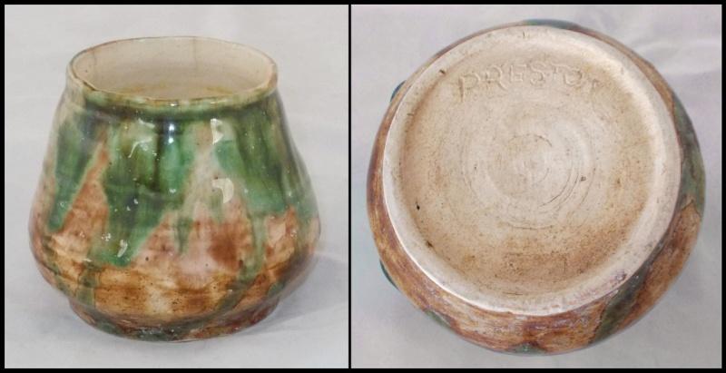 Little green trickle glaze ish Preston pot who made me? Dscn7321