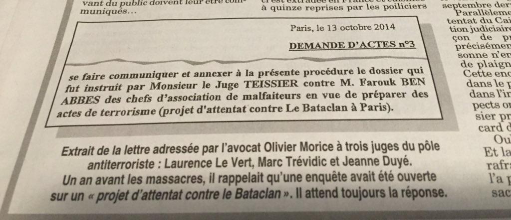 Le gouvernement a abandonné le Bataclan aux terroristes  Attent13