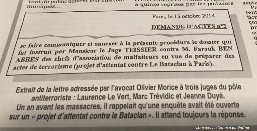 Le gouvernement a abandonné le Bataclan aux terroristes  Attent17